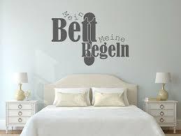 wandtattoo wandsticker schlafzimmer sprüche mein bett meine regeln nr2 aufkleber ebay