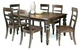 Rustic Wood Dining Set Table Distressed Kitchen