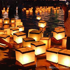 2018 Paper Lanterns Water Floating Light Square Blessing Festival