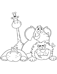 Click To See Printable Version Of African Animals Coloring Page