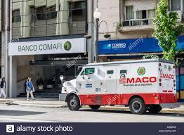 100 Bank Truck Buenos Aires Argentina Banco Comafi Bank Exterior Armored Truck Cash