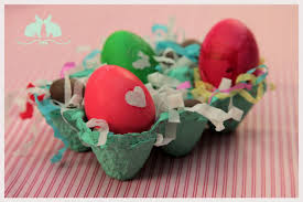 Easter Egg Decorations Dyeing Paper Hearts Carton