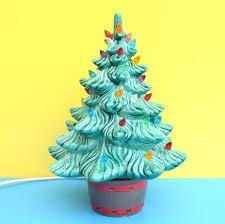 Vintage Ceramic Christmas Tree Light