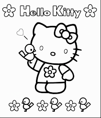 Wonderful Hello Kitty Coloring Pages Print With Color And