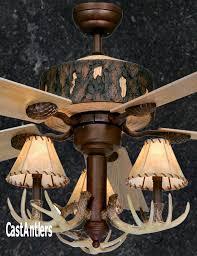 standard size fans 52 rustic faux antler ceiling fan rustic