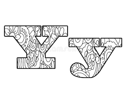 Download Anti Coloring Book Alphabet The Letter Y Vector Illustration Stock