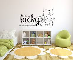 Wall Decal Winnie The Pooh by How Lucky I Am To Have Something That Makes Saying Goodbye So