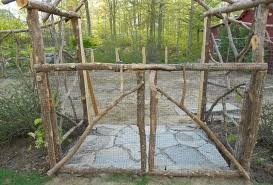 Building A Rustic Arbor Foyer For The Potager