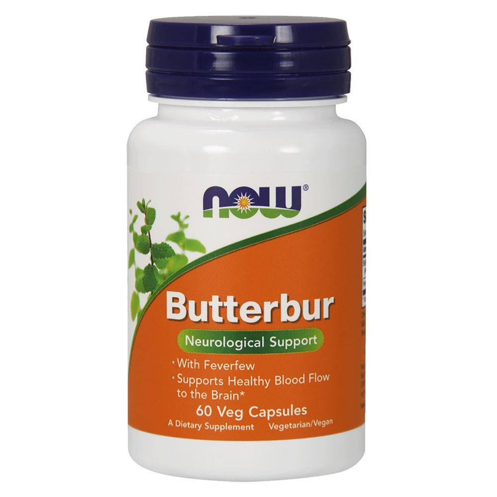Now Foods Butterbur & Feverfew Dietary Supplement - 60 Capsules