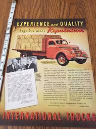 99 Vintage International Harvester Truck Parts Old Advertising Life Magazine Etsy