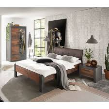 schlafzimmer set 3 tlg in matera anthrazit grau mit mix dekor ber
