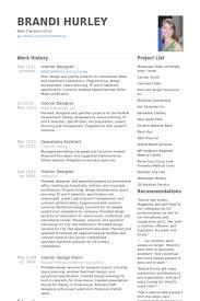 resume for interior designer surprising interior design resume for