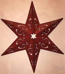 New Americana Texas Red Metal Barn Star 25