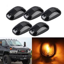 5) Smoked Lens Cab Roof Marker Running Lamps Amber LED Lights For ... Gmc Chevy Led Cab Roof Light Truck Car Parts 264155bk Recon 5pc 9led Amber Smoked Suv Rv Pickup 4x4 Top Running Roof Rack Lights Wiring And Gauge Installation 1 2 3 Dodge Ram Lights Wwwtopsimagescom 5 Lens Marker Lamps For Smoke Triangle Led Pcs Fits Land Rover Defender Rear Cabin Chelsea Company Smoke Lens Amber T10 Cnection Dust Cover 2012 Chevrolet Silverado 1500 Cab Lights Youtube Deposit Taken Suzuki Jimny 13 Good Overall Cdition With Realistic Vehicle V25 130x Ets2 Mods Euro Truck