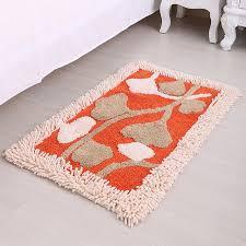 coton chenille porte tapis paillasson porte d entrée 50x80 cm dans