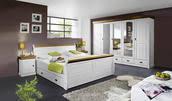 schlafzimmer weiß kieferfarben