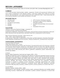 Child Care Resume Sample Childcare Template For Worker Daycare Assistant Examples Teacher Exa