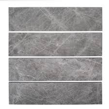 100 In Marble Walls Jeffrey Court Tundra Grey 3 In X 12 In Field Wall Tile 1 Sq Ft Pack