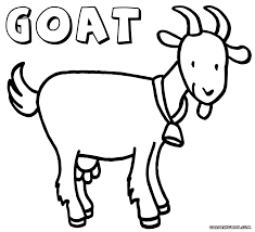 Goat Coloring Pages Inside