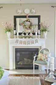 Fireplace Spring Decor Home Design New Marvelous
