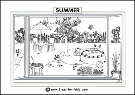 Spring Colouring Page Thumbnail Image Summer