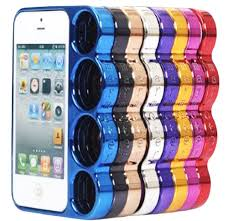 New for Apple iPhone 5 5g Plastic Brass Knuckles Case Cover Skin