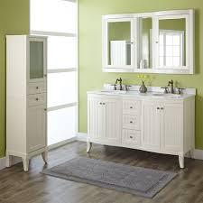 Bathroom Double Vanity Dimensions by Beadboard Bathroom Storage Cabinets U2022 Bathroom Cabinets