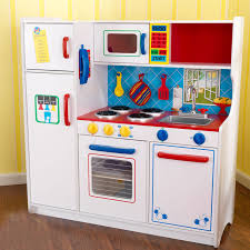 Kitchen Costco Play Kidkraft Big White With Blue Phone Red