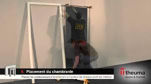 comment poser une porte de chambre notice de pose d un ensemble porte à récouvrement sur chambranle c