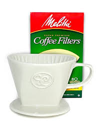 Ceramic Pour Over Coffee Dripper And Single Serve Brewer Includes Box Of 40 Melitta Cone Filters