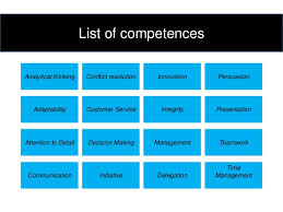 Competencies List For Resume by List Of Competencies Templates Franklinfire Co