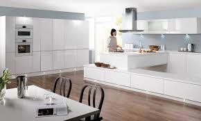 white gloss kitchen decorating home ideas