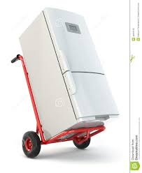 100 Appliance Truck Delivery Hand And Fridge Stock Illustration