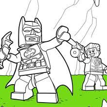 LEGO Batman Batmobile And Joker Coloring Page