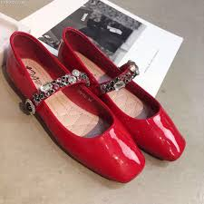 online get cheap red rhinestone flat shoes aliexpress com