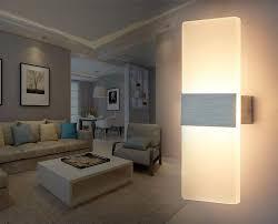 7w acrylic led wall l light fixture indoor lighting foyer
