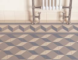 floor tiles individual shapes make up this blue and