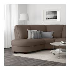 tidafors corner sofa with arm right dansbo medium brown ikea