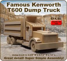 famous kenworth semi truck u0026 trailer wood toy plan set max