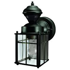 heath zenith 9 52 in h matte black motion activated outdoor wall