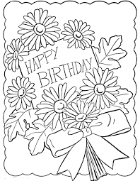 Printable Coloring Birthday Cards For Nana Happy Grandma Pages Getcoloringpages