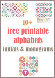 MeinLilaPark Digital Freebies Round Up Of Free Alphabet Printables Letters Monograms Initials Ausdruckbare Alphabete