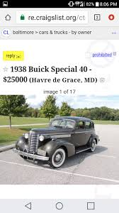 Want To Purchase 37 Or 38 Buick Century/Special - Buick - Pre War ... Risk It All With This 500 Supercharged Firstgen Viper On Craigslist Orioles Catcher Caleb Joseph Finds Kindred Spirit In His 700 Spring Sacramento Cars And Trucks By Owner 2018 2019 New Car Chicago And For Sale By Best Image Fraud Robbery Related To Sales Reported Havre De Los Angeles Ca News Of Serving Springfield Chester Woodlyn Thomas Chevrolet Media Pa Pickup Truck Sharing Startup Bungii Expands Baltimore Technical Baltimecraigslistorg Craigslist Baltimore Md Jobs Apartments Janda Used Maryland Classic 2017 Honda Hrv For Frederick Shockley