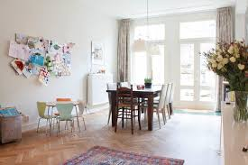 Absolutely Gorgeous Scandinavian Diningroom Beige Drapes Decoratively My Houzz With Rectangular Dining Table And Stainless Pendant White Walls