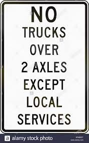 100 Used Trucks In Delaware Road Sign Used In The US State Of Truck Restriction Stock