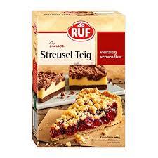 ruf streuselteig grund mischung für obst kuchen streusel kuchen mit pudding oder crumble 8er pack 8 x 450 g