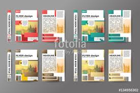 A4 Flyer Design Set Brochure Template Vector Abstract Binder Layout Creative Book Front
