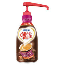 Coffee Mate Liquid Creamer Salted Caramel Choc 15 L Pump Bottle NES79976