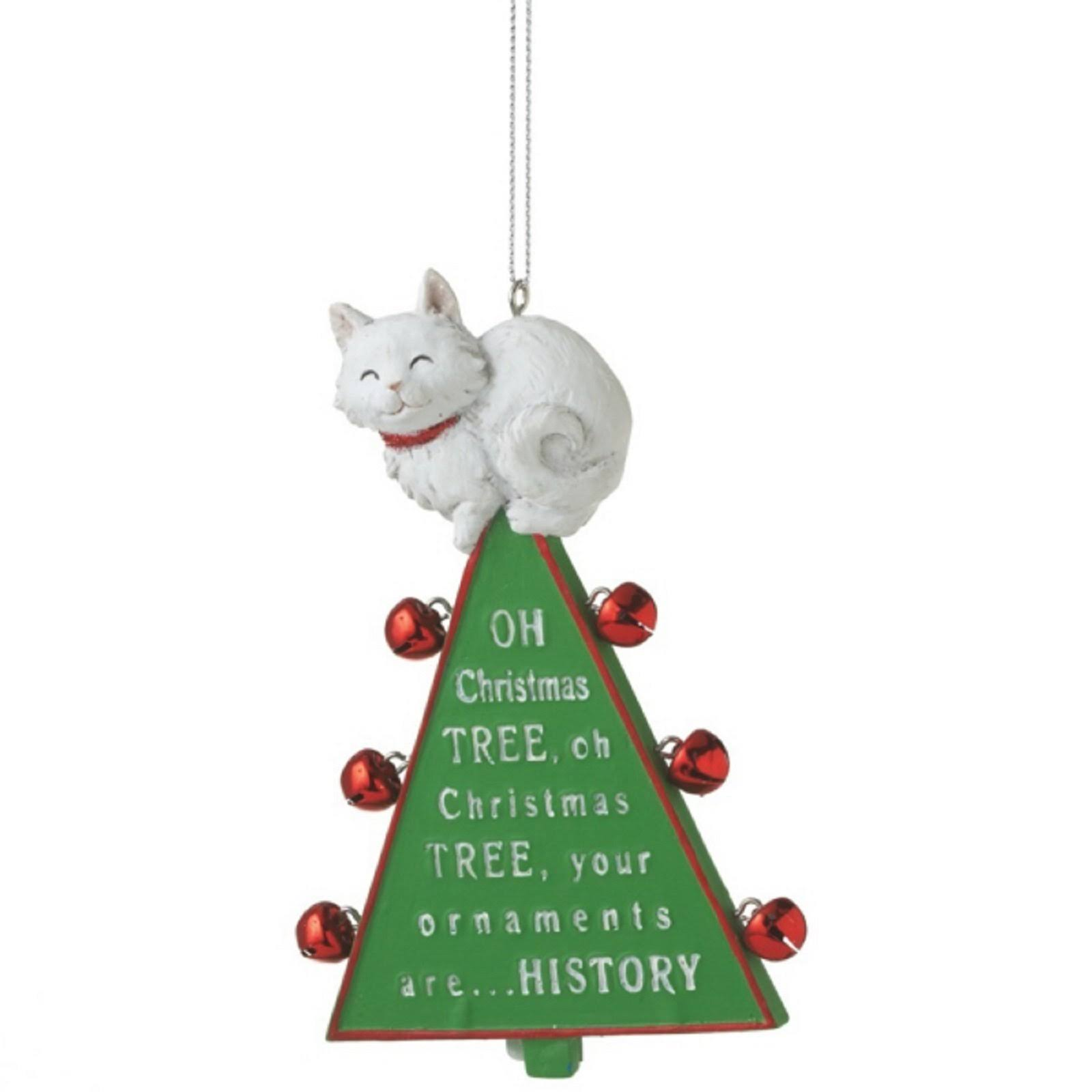 Midwest CBK Oh Christmas Tree Cat Ornament