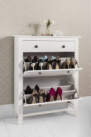 Simms Shoe Cabinet In Cappuccino by Shoe Storage Cabinet Deluxe With Storage Drawer Cotswold In White